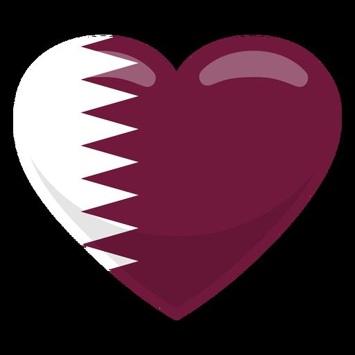 Bandera del corazon de qatar Transparent PNG