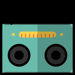 Elemento hippie de tocador de cassete de rádio