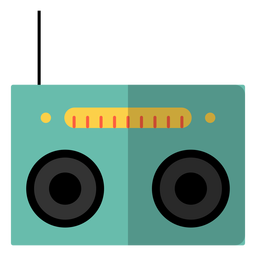 Radiokassettenspieler-Hippieelement