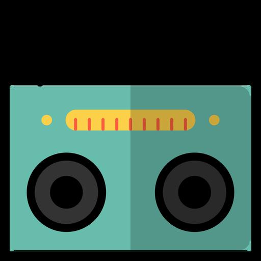 Radio reproductor de cassette hippie elemento Transparent PNG