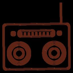 Elemento de traçado do toca-fitas de rádio