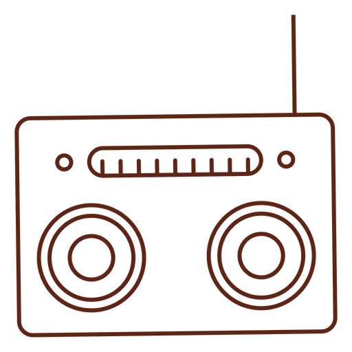Radio cassette player stroke element Transparent PNG