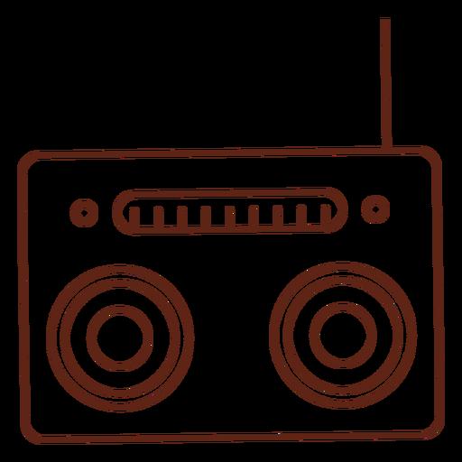 Radio cassette player stroke element
