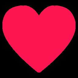 Elemento hippie de coração vermelho