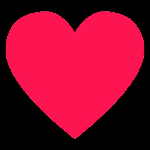 Elemento hippie de corazón rojo