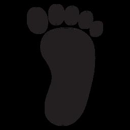 Silueta de la huella del pie derecho