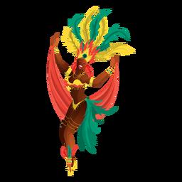Bailarina de carnaval de rio
