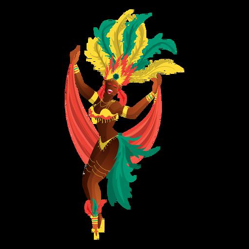 Bailarina de carnaval de rio Transparent PNG