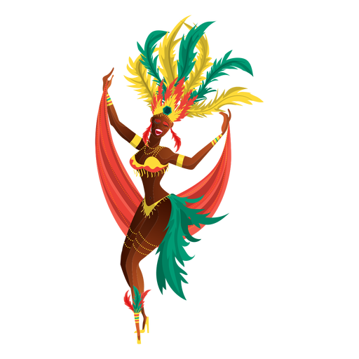 Rio Carnival Dancer  Transparent PNG