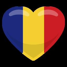 Bandera del corazon de rumania