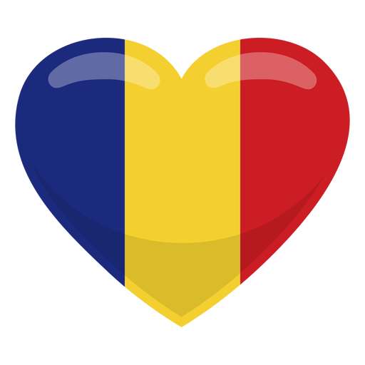 Romania heart flag Transparent PNG