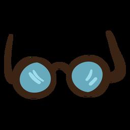 Óculos redondos coloridos doodle