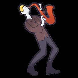 Dibujos animados de saxofonista