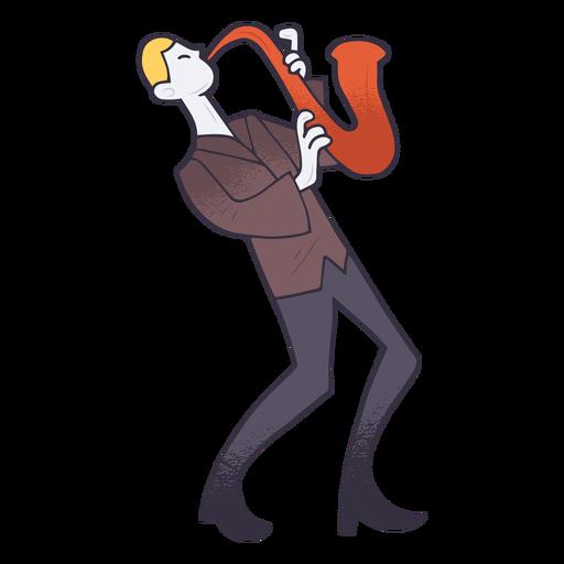 Dibujos animados de saxofonista Transparent PNG