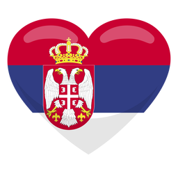 Serbien Herz Flagge