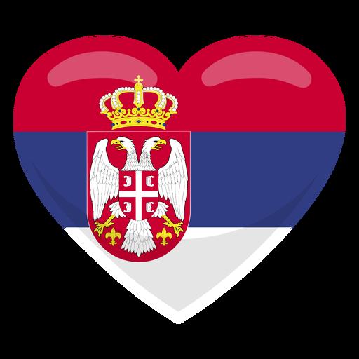 Bandera del corazón de serbia Transparent PNG