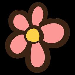 Doodle de hippie de flor simple