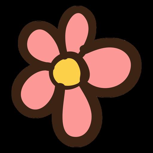 Doodle de hippie de flor simples Transparent PNG