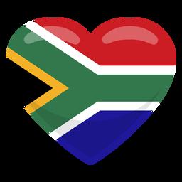 Bandera del corazón de Sudáfrica