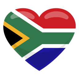 Südafrika Herzflagge