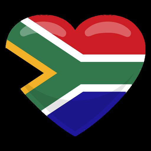 Bandera corazon del sur de africa Transparent PNG