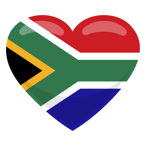 South africa heart flag Transparent PNG