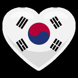Bandera del corazón de corea del sur