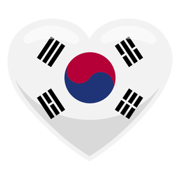 South korea heart flag