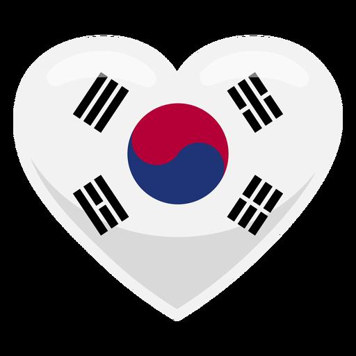Bandera del corazón de corea del sur Transparent PNG