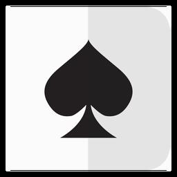 Icono de tarjeta de espadas