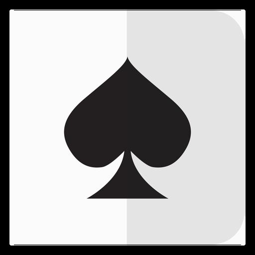 Icono de tarjeta de espadas Transparent PNG