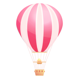 Gestreifter Heißluftballon