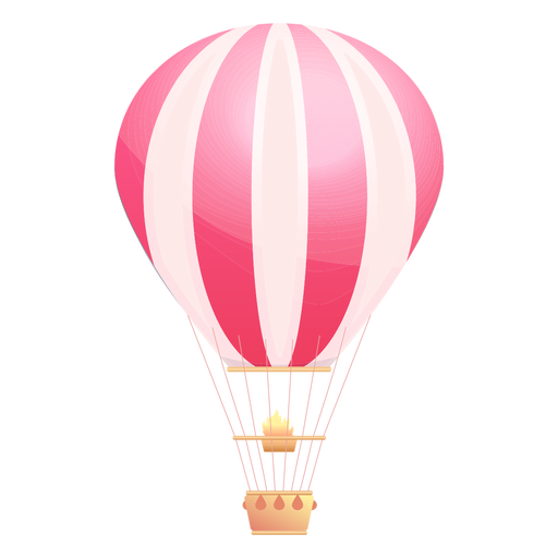 Balão de ar quente listrado Transparent PNG