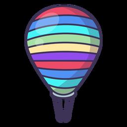 Icono de globo de aire caliente a rayas
