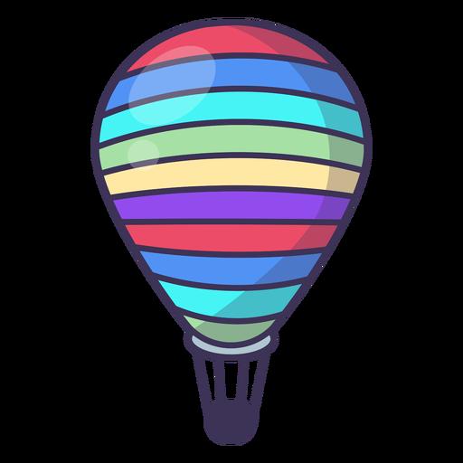 Icono de globo de aire caliente a rayas Transparent PNG