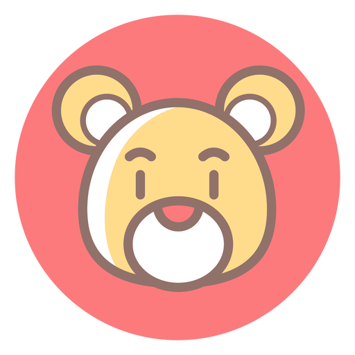 Icono de círculo de cabeza de oso de peluche Transparent PNG