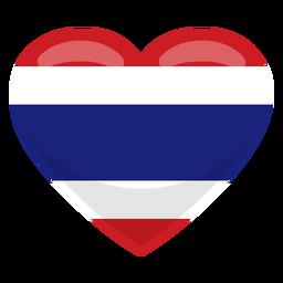 Bandera del corazon de tailandia