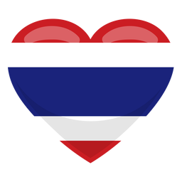 Thailand heart flag