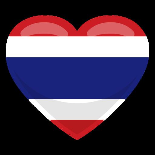 Bandera del corazon de tailandia Transparent PNG