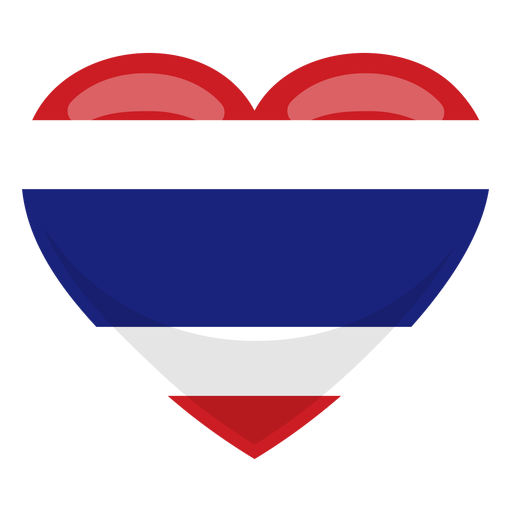 Thailand heart flag Transparent PNG