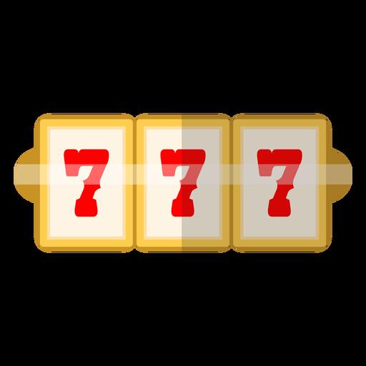 Ícone de slot de três setes Transparent PNG