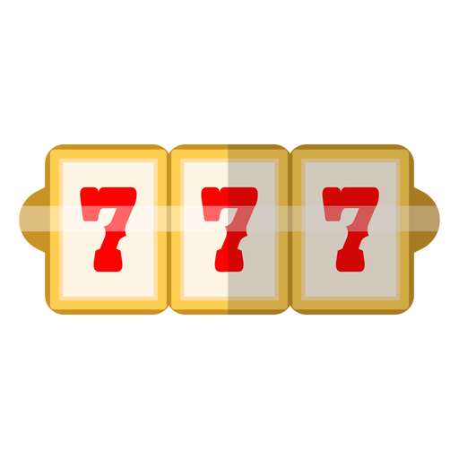 Three sevens slot icon Transparent PNG