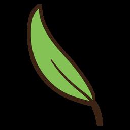 Doodle colorido de folha de árvore