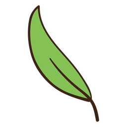Tree leaf colored doodle