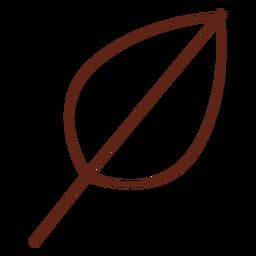 Elemento de trazo de hoja de árbol