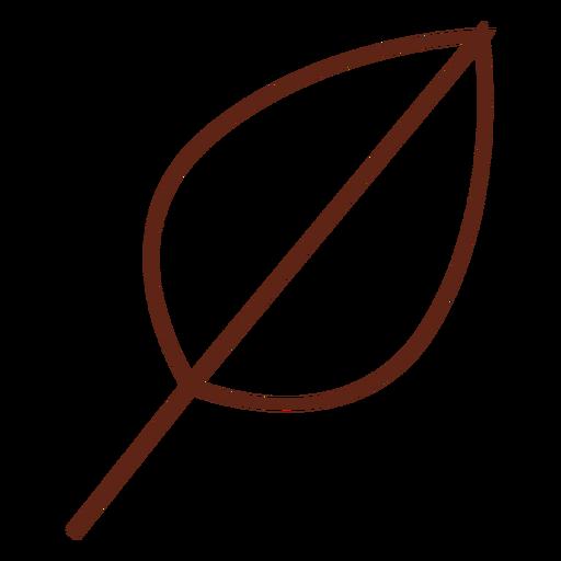 Tree leaf stroke element Transparent PNG