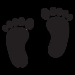 Silhueta de pegada de dois pés