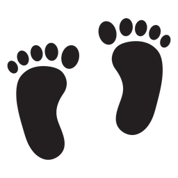 Two feet footprint silhouette