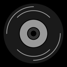 Elemento hippie de disco de vinil