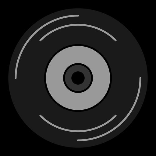 Vinyl record hippie element Transparent PNG